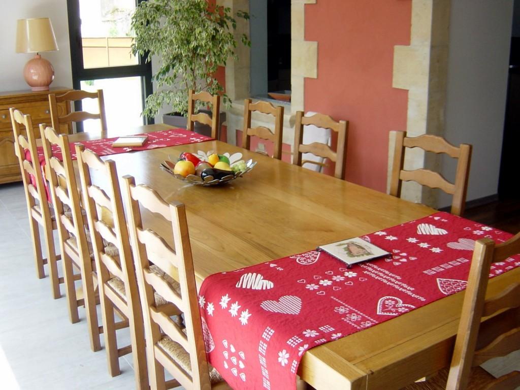 La salle à manger du gîte La Forge en Meuse - Lorraine